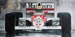 Formule 1 Aryton Senna Regenrace