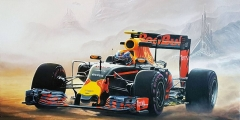 Formule 1 Max Verstappen Woestijnweg