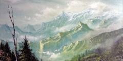 schilderij-green-mountains